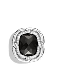 David Yurman - Metallic Labyrinth Ring With Black Onyx And Diamonds - Lyst