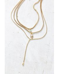 Urban Outfitters - Metallic Porter Layering Necklace Set - Lyst