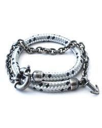 Anchor & Crew | Gray Grey Dash Barmouth Rope Bracelet for Men | Lyst