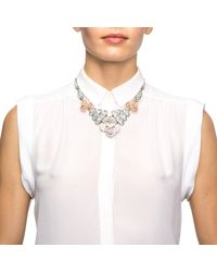 Lulu Frost | Metallic Ingrid Floral Crystal Bib Necklace | Lyst