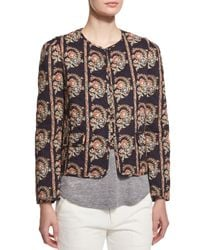 Étoile Isabel Marant - Black Reversible Printed Cotton Poplin Jacket - Lyst