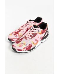 Adidas - Pink Originals Zx Flux Floral Print Sneaker for Men - Lyst