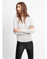Vince - Gray Shirttail Long Sleeve Tee - Lyst