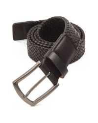 Trafalgar | Black 'ethan' Braided Leather Belt for Men | Lyst