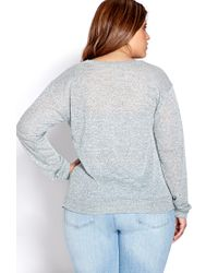 Forever 21 - Green Easy Marled Knit Top - Lyst