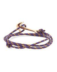 Miansai | Purple Double Wrap Anchor Bracelet for Men | Lyst