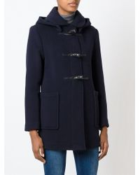 Gloverall - Blue Detachable Hood Duffle Coat - Lyst