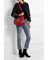 Gucci | GG Marmont Textured Leather Shoulder Bag | Lyst
