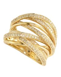 Effy | Metallic Diamond And 14k Yellow Gold Ring, 0.71 Tcw | Lyst