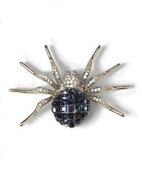Brooks Brothers - Blue Crystal Spider Brooch - Lyst
