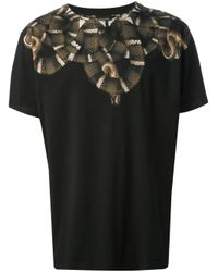 Marcelo Burlon | Black Snake Print Tshirt for Men | Lyst