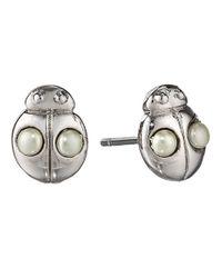 Marc By Marc Jacobs - Metallic Pinwheel Flower Ladybug Studs - Lyst
