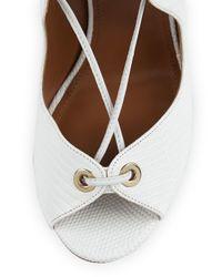 Aquazzura - White Tango Lace-Up Sandals - Lyst