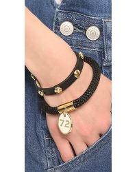 Marc By Marc Jacobs | Screw Leather Bracelet Black | Lyst