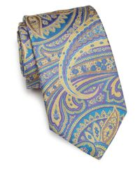 Ike Behar | Purple Paisley Silk Tie for Men | Lyst