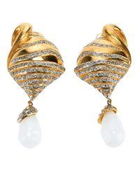Valentino   Metallic Drop Shell Earring   Lyst