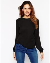 ASOS - Black Tall Drape Back Top - Lyst