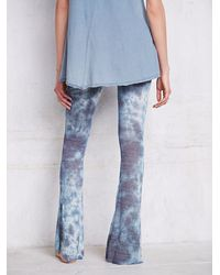 Free People - Blue Flare Lounge Pants - Lyst