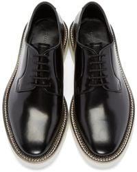 Alexander McQueen - Black Leather Derbys for Men - Lyst