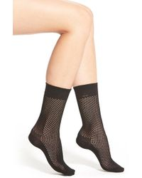 Ralph Lauren | Black Mesh Knit Crew Socks | Lyst