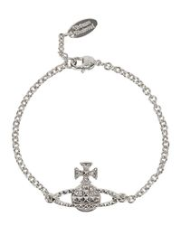 Vivienne Westwood | Metallic Mayfair Swarovski Silver Tone Orb Bracelet | Lyst
