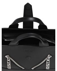 KENZO - Black Mini Kalifornia Smooth Leather Bag - Lyst