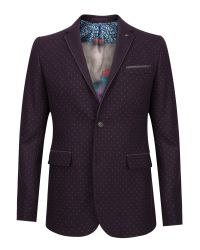 Ted Baker | Red Elko Spot Print Blazer for Men | Lyst