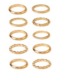 Forever 21 - Metallic Musthave Stackable Ring Set - Lyst