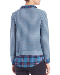 Soft Joie - Blue Keala Layered Striped Sweater - Lyst
