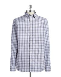Victorinox - Blue Plaid Sportshirt for Men - Lyst