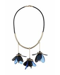 TOPSHOP | Blue Acrylic Flower Necklace | Lyst