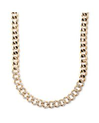 Givenchy - Metallic Goldtone Swarovski Silk Crystal Curb Link Necklace - Lyst