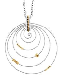 Lagos - Metallic Caviar Superfine Swirl Pendant Necklace - Lyst