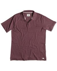Quiksilver | Purple Life Inside Cotton Slub Polo for Men | Lyst