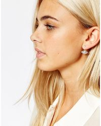 Oasis - Metallic Stone Through & Through Earrings - Lyst