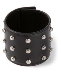 Saint Laurent | Black Studded Cuff Bracelet | Lyst