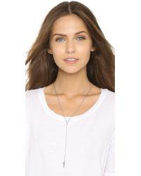 Rebecca Minkoff | Metallic Crystal Cone Y Necklace | Lyst