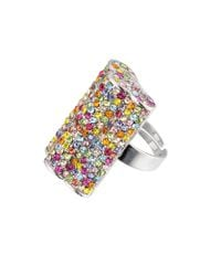 Gemini | Multicolor Hollywood Cluster Rectangle Ring | Lyst