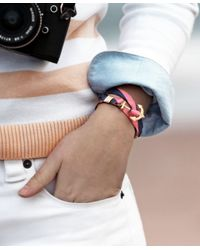 Brooks Brothers - Blue Kiel James Patrick Bb#4 Stripe Wrap Bracelet - Lyst