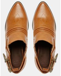 ASOS - Brown Mexico Flat Shoes - Lyst
