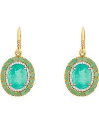 Irene Neuwirth Green Colombian Emerald, Diamond & Chrysop