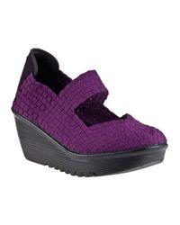 Bernie Mev | Purple Lulia Wedge Plum Fabric | Lyst