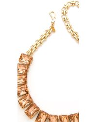 Lee Angel | Orange Crystal Stone Necklace | Lyst