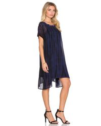 Lacausa | Blue Factory Mini Dress With Racer Slip | Lyst