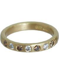 Malcolm Betts - Metallic White & Cognac Diamond Ring - Lyst