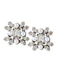 DANNIJO   Metallic Lilly Crystal Earrings   Lyst