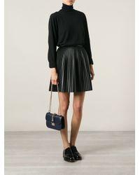 Valentino - Blue 'Glam Lock' Shoulder Bag - Lyst