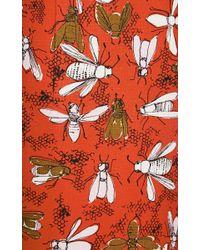 Carolina Herrera - Multicolor Bee Family Gathering Print Dress - Lyst