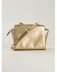 MICHAEL Michael Kors - Metallic 'Selma' Crossbody Bag - Lyst