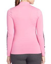 Lauren by Ralph Lauren   Pink Plus Performance Jersey Pullover   Lyst